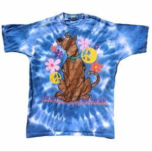 Vtg 1998 Scooby-Doo rare hippie tie dye Tshirt